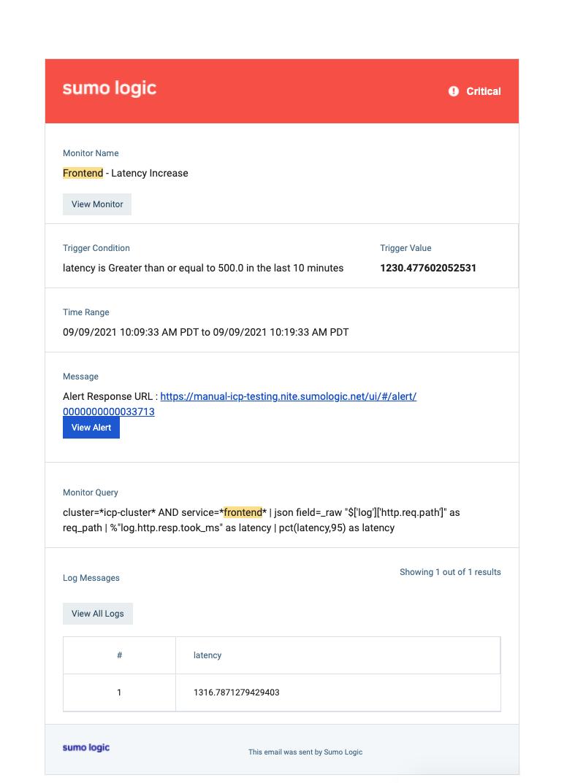 Alert Response screenshot