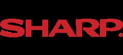 Sharp logo row